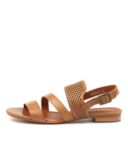 PARALLEL Sandals in Tan Leather
