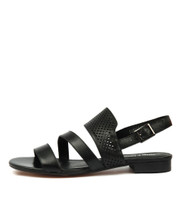 PARALLEL Sandals in Black Leather