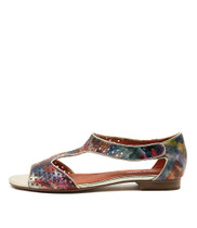 PRIGORE Sandals in Orange/ Multi Leather