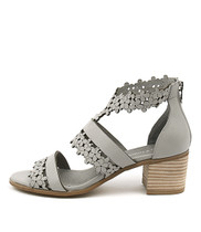 DRAWS Heeled Sandals in Misty Leather