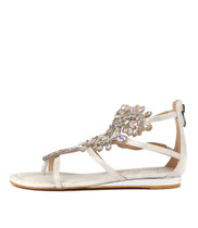 381 Sandals in Silver Smooth
