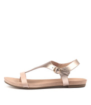 JANAE Sandals in Nude / Rose Gold Leather