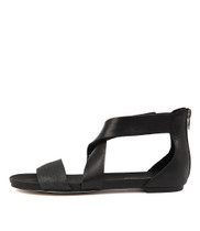 JAPTER Sandals in Black/ Pewter Leather