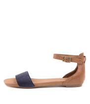 JEMILA Sandals in Blue/ Tan Leather