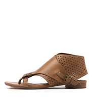 PRICKLES Sandals in Tan Leather