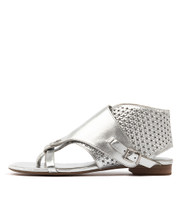 PRICKLES Sandals in Silver Leather