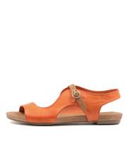 JACOBI Sandals in Orange Leather