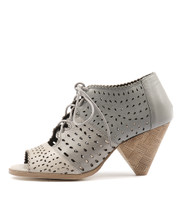 OCEANSH Heeled Sandals in Misty/ Light Grey/ Dark Grey Leather