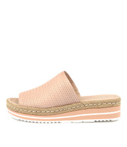 ACCENT Flatform Sandals in Nude Leather