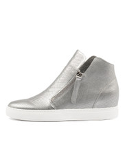 GISELE Sneakers in Silver Leather