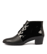 TANKERM Lace-up Boots in Black Patent Leather