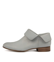 FEVEL Ankle Boots in Pale Blue Leather