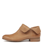 FEVEL Ankle Boots in Dark Tan Leather