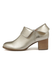 SANTO Pale Gold Ankle Boots in Pale Gold Leather