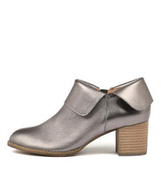 SANTO Ankle Boots in Pewter Smoke Leather