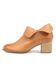 SANTO Ankle Boots in Dark Tan Leather