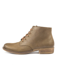 COACHEL Ankle Boots in Army Nubuck Leather