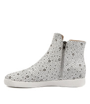 GLAMORA Sneakers in White Leather