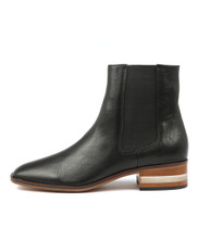 FELICITY Ankle Boots in Black Leather