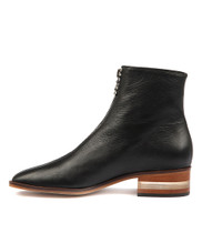FIGHTER Ankle Boots in Black Leather