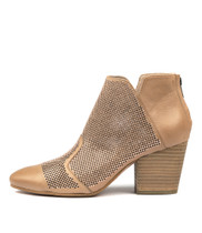 IMPRESS Heeled Ankle Boots in Flesh Leather