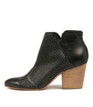 IMPRESS Heeled Ankle Boots in Black Leather