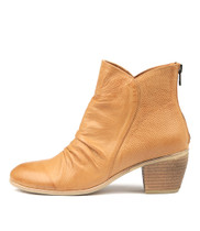 MEDORA Ankle Boots in Dark Tan Printed Leather