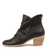 MEDORA Ankle Boots in Black Printed Leather