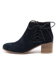 KELTIC Ankle Boots in Navy Suede