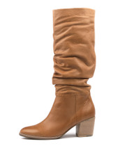 BEAST Knee High Boots in Tan Leather