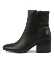 BOSCA Ankle Boots in Black Leather