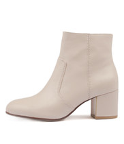 NIMBA Ankle Boots in Pastel Pink Leather