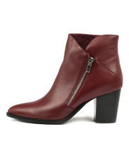 TAPDANCE Ankle Boots in Burgundy Leather