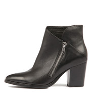 TAPDANCE Ankle Boots in Black Leather