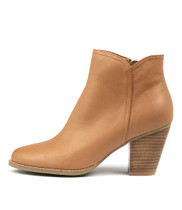 CAGE Ankle Boots in Tan Leather