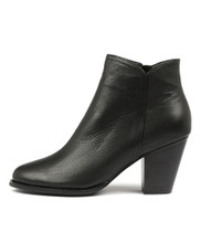 CAGE Ankle Boots in Black Leather