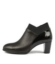 ACER Heeled Boots in Black Leather