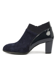 ACER Heeled Ankle Boots in Navy Suede