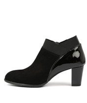 ACER Heeled Ankle Boots in Black Suede