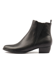 TATES Ankle Boots in Black Leather