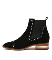 FERRAS Ankle Boots in Black Suede