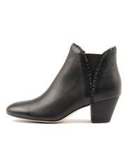HIALEAH Ankle Boots in Black Leather