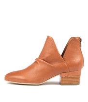 GINGAL Ankle Boots in Tan Leather
