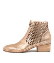 HEARTH Ankle Boots in Peach Crackle Leather