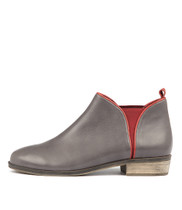 STOLLY Ankle Boots in Charcoal Leather