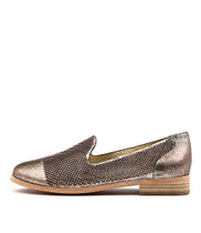 AMALEE Flats in Pink Metallic Leather