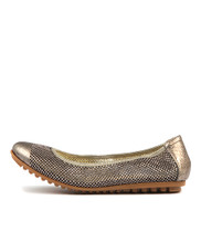 BOLLAD Ballet Flats in Old Gold Leather