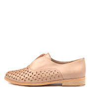 ALLRIGHTS Flats in Nude/ Rose Gold Leather
