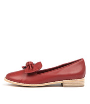 ALANISA Flats in Red Leather
