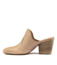 ISTI Heeled Mules in Flesh Leather